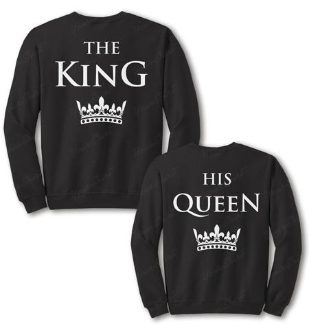 Парные свитшоты King & Queen от 800 грн на заказ от производителя. Купить в Украине дешево