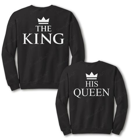 Парные свитшоты King & Queen 10